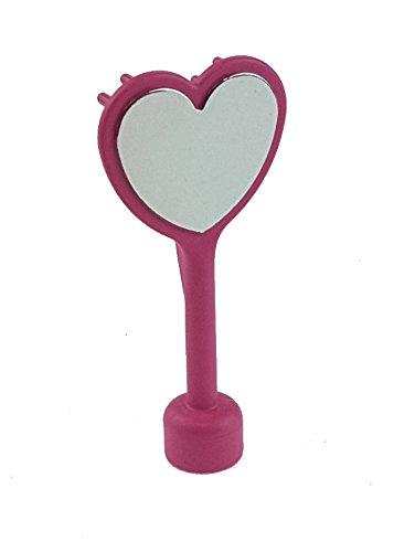 1 x Lego Duplo Bürste Spiegel dunkel pink rosa herzförmig Zubehör Figur Tier Puppenhaus Schloss 52716 4820 4822 4826 4828