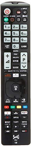 SeKi Fernbedienung passend für LG - Funktioniert mit Allen LG Geräten (TV, Fernseher,Smart TV, DVD, LED TV und 4K), mit zusätzlicher Lernfunktion