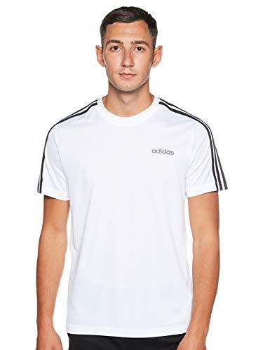 adidas M D2M 3S tee Camiseta de Manga Corta, Hombre, White/Black, XL