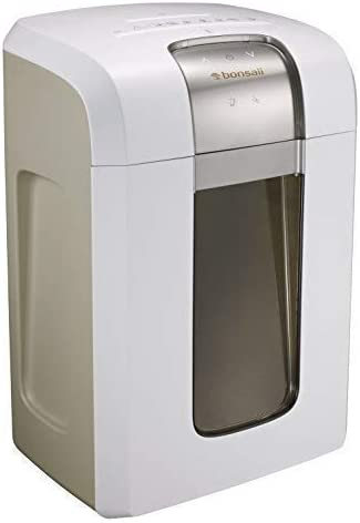 Bonsaii Paper Shredder, 240 Minutes Continuous Shredding, 10-Sheet Micro Cut (25/64 inches) with 7.9 Gallons Wasterbasket, White (4S30) (Renewed)