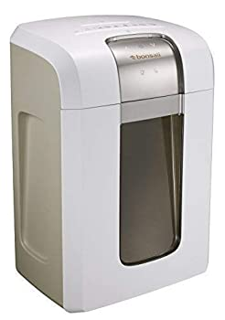 Bonsaii Paper Shredder 240 Minutes Continuous Shredding 10-Sheet Micro Cut  25/64 inches  with 7.9 Gallons Wasterbasket White  4S30