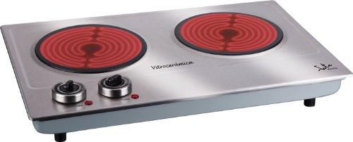 Jata V532 Cocina Eléctrica Vitrocerámica 2 Fuegos con Dos