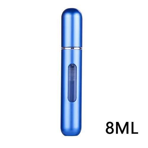 5ml /8ml Portable Travel Mini Rechargeillable Aluminium Container Parfum Spray Bouteilles De Stockage Cosmétiques Bouteille Vide Bleu
