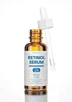 HOPEMATE Natural Facial Retinol Serum with Hyaluronic Acid& Vitamin E New Skin Treatment Formula Organic Anti Wrinkle Reducer Anti Aging Moisturizer Dark Circles Scar Sun Damage Corrector