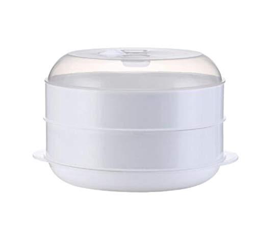 HUIHU Plat de Cuisson à la Vapeur en Plastique avec Couvercle Bol de Four à Micro-Ondes utilisant Une boîte de Chauffage de boulette de Plat cuit à la Vapeur de Riz