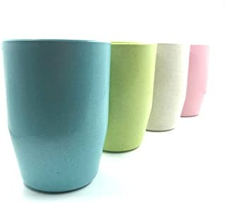 Jaunpy Unbreakable Cups for Kids Bathroom Cup Tumbler with BPA Free Set of 4 Multicolor Drinking Cups
