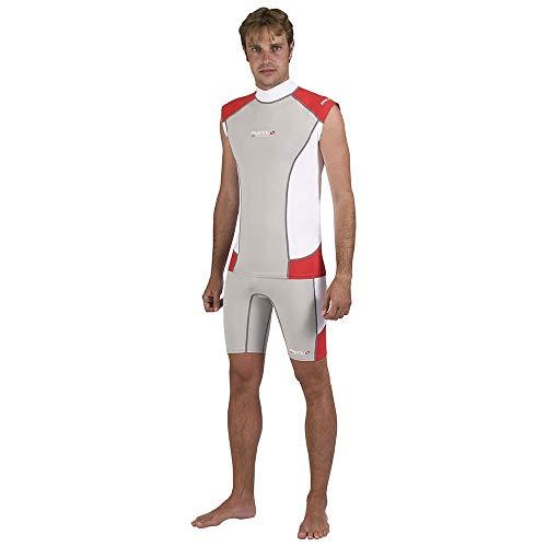 Mares Herren Tauch-shirt Ärmellos Rash Guard Trilastic Sleeveless DC, Grau, S, 412981S