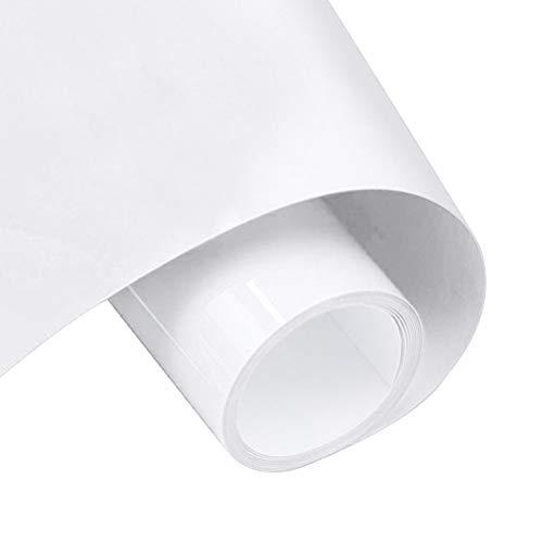 nuoshen Vinyl Klebefolie, 1 Rolle 30 * 100CM Wärmefolgen VinylfolieKlebefolien Selbstklebend Weiß Plotterfolie wasserdichte Flexible Folie zum Aufbügeln von DIY-T-Shirts und Stoffen