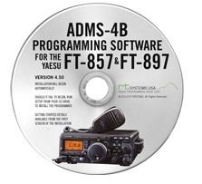 Yaesu ADMS-4B Programming Software on CD with USB Computer Interface Cable for FT-857D & FT-897D by RT Systems