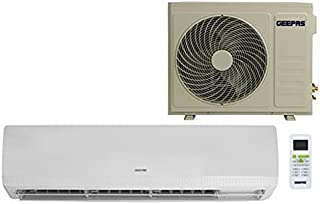 Geepas Split Type Air Conditioner - Ergonomic Design with Led Display | Multiple Speed, Turbo Cooling & Auto Restart | Was...