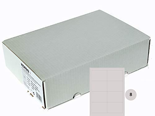 Kores Universal-Etiketten, 97 x 67.7 mm Großpackung, 500 Blatt, weiß, 5620433, weiss, 97,0 x 67,7mm
