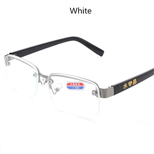 Randloze klassieke stijl glazen lenzen Leesbril Effen spiegel Heren Dames Unisex Eyewear # 11, 150, helder
