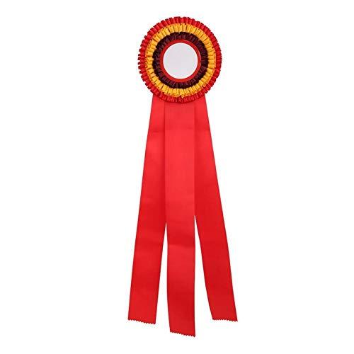 SALUTUYA Cinta Medalla Insignia Exquisita Ligera Duradera, para Correr Competencia, para Competencia de Fútbol(Red)