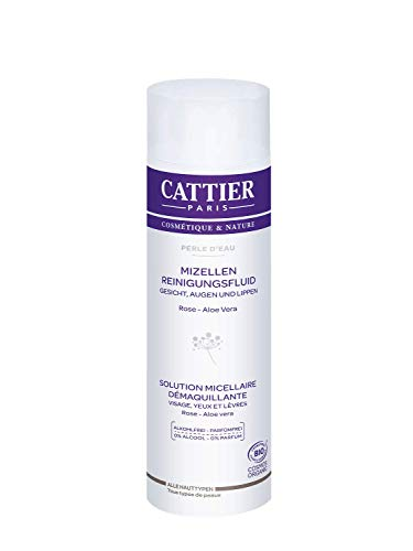 Cattier Mizellen Reinigungsfluid für Gesicht, alkoholfrei, zertifizierte Naturkosmetik, 300 ml