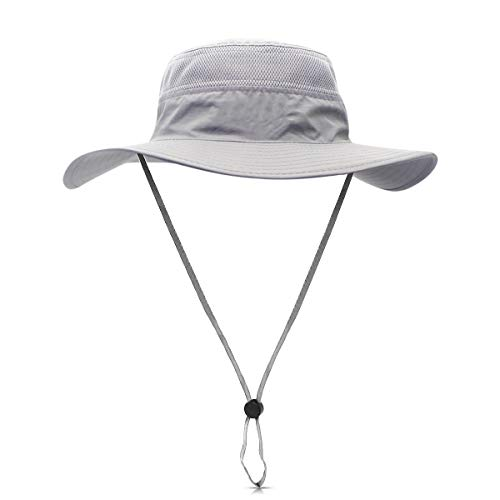 DORRISO Sombrero para el Sol Unisexo UPF 50+ Anti-UV Vacaciones Viaje Playa Gorro de Pesca, Talla única Sombrero