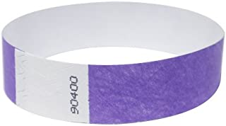 orange paper wristbands