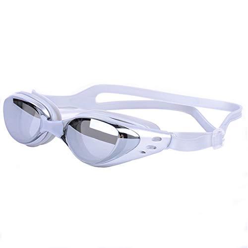 OGOBVCK Gafas de Natacion Natacion Espejo película con Hormiga de Niebla, a Prueba de Agua y UV Proteccion Gafas de conducción diseñado para Adultos y niños de 10+ (Grey)