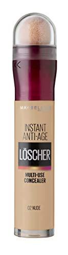 Maybelline New York Abdeckstift, Instant Anti-Age Effekt Concealer, Löscher mit Mikro-Lösch-Applikator, Nr. 02 Nude, 6,8 ml