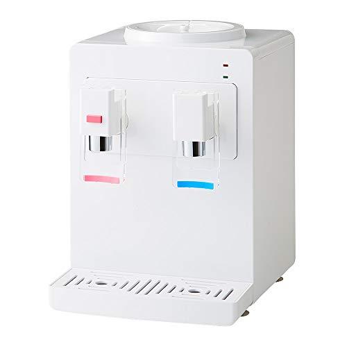 卓上 ウォーターサーバー ペットボトル対応 プッシュ式 温水 冷水 ボトル ロック付き サーバー 給水 コンパクト 冷水器 2L