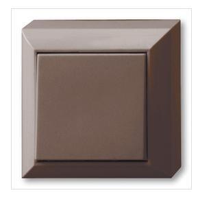 REV Ritter 0511476777 - Interruttore di spegnimento/commutatore a parete PlanoLuxe, marrone