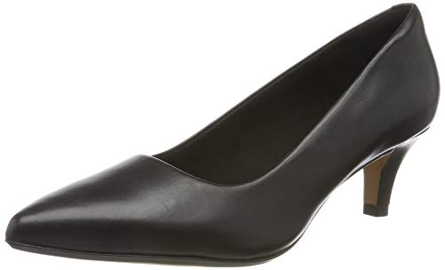 Clarks Damen Linvale Jerica Pumps, Schwarz (Black Leather), 43 EU