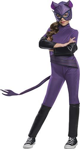 Rubie's DC Super Hero Girl's Deluxe Catwoman Costume Jumpsuit, Medium