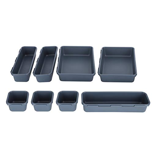 Omabeta Organizador de cajones de Almacenamiento de Caja Duradera para el hogar para el Taller(Dark Gray)