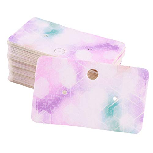 B Blesiya 100 piezas joyas tarjetas de presentación pendientes pendientes colgante soporte joyas tarjetas papel tarjeta, color Leuchtender Stern