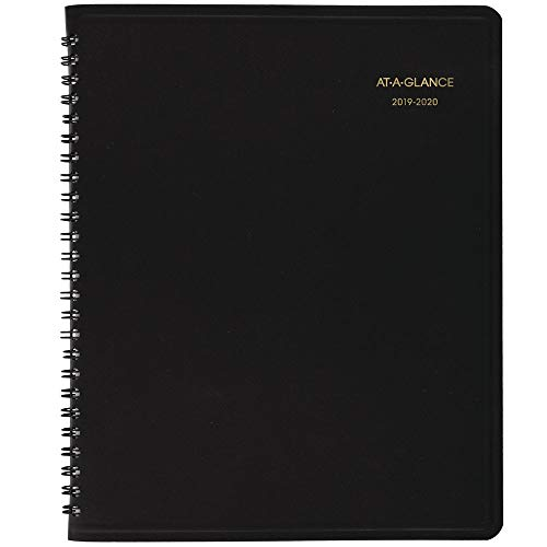 "AT-A-GLANCE 701270520 2019-2020 Academic Monthly Planner, 7"" x 8-3/4"", Black (7012705), Medium"