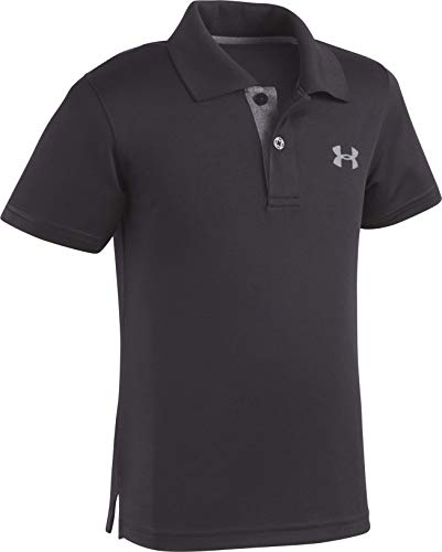 Under Armour Little Boys' Ua Logo Short Sleeve Polo, Black, 6
