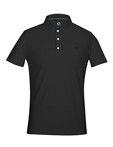 Jeff Green Herren Atmungsaktives Funktions Poloshirt Eclipse, Größe - Herren:M, Farbe:Black