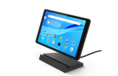 Lenovo Smart Tab M8 with Google Assistant Tablet, 8' HD IPS Display with Smart Charging Station, Mediatek Helio A22 Processor, 32GB Expandable to 128GB, RAM 2GB, WIFI, Android 9, Iron Grey (Renewed)