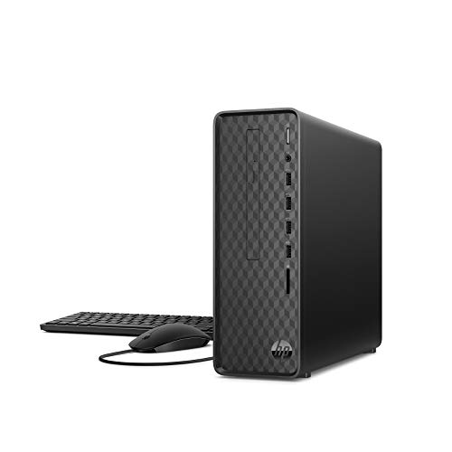 HP Slim S01-aF1003ng Desktop PC (Intel Pentium J5040, 8GB DDR4 RAM, 512 GB SSD, Intel Grafik, Windows 10) schwarz