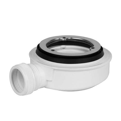 Válvula de Desagüe para Platos de Ducha | Sifón para plato de ducha- 140 mm de diámetro | Aro de Sujeción de Acero Inoxidable brillo...