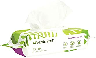 Earth Rated Dog Wipes - 100 Compostable Pet Grooming Wipes For Dogs - USDA-Certified 99 Percent Biobased -...