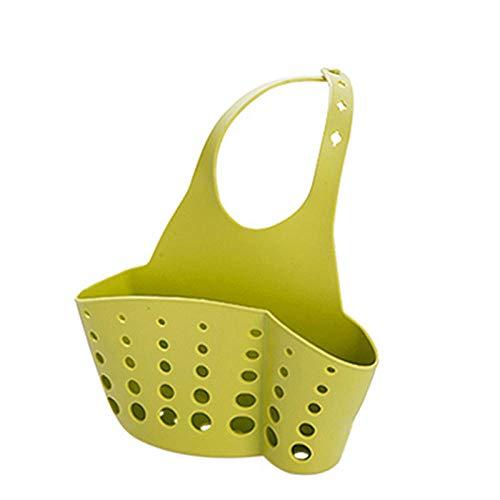 Fregadero cesta de drenaje esponja paño de almacenamiento estante cocina baño estante verde