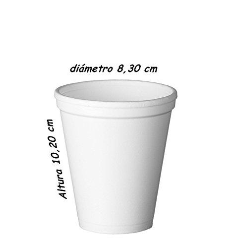 Sumicel Vaso de porex 300 ml Blanco, Caja de 1000 Unidades
