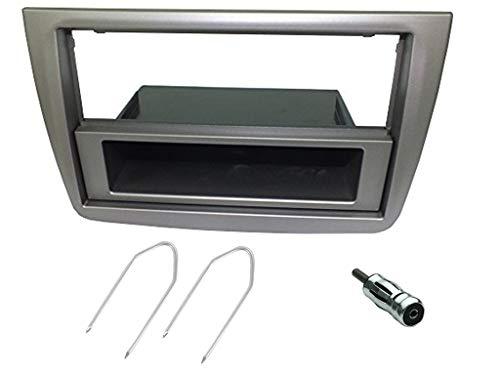 Sound-Way Kit Montaje Autoradio, Marco 1 DIN / 2 DIN Radio para Coche, Caja de Almacenamiento, Llaves de Desmontaje, Adaptador Antena, Compatible con Alfa Romeo Mito