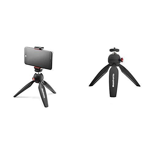 Oferta de Manfrotto Pixi Smart - Mini trípode para Smartphone, Negro + MTPIXI-B - Minitrípode Pixi, para Cámaras CSC,DSLR de Nivel de Entrada, Material Adapto, Negro