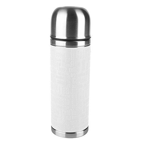 Emsa 515713 Isolierflasche, Mobil genießen, 500 ml, Safe Loc Verschluss, Weiß, Senator Manschette