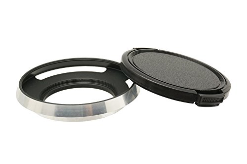 Gadget Place 37mm Chrome Metal Lens Hood + Cap for Olympus M.Zuiko Digital ED 14-42mm F3.5-5.6 EZ Lens