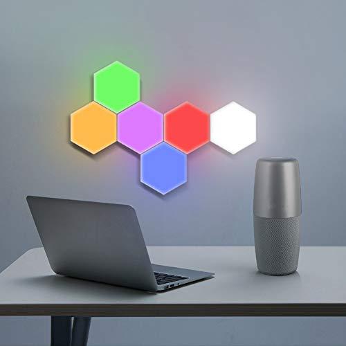 GKJRKGVF 10 stuks zeshoekig licht touch-sensing nachtlampje DIY LED wandlamp kleurrijke magnetische wandlamp nieuwe modulaire decoratieve lampen