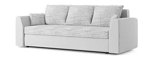 Sofini Couch Paul mit Schlaffunktion! Best Couch! Couch mit Bettkasten! (Lawa 9+ Soft 17)