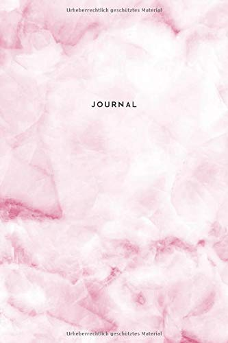 Journal Marmor Rosa: Notizbuch Punktraster (Dotted) I Marmordesign I Tagebuch I Notizen I Composition Notebook I A5 I 160 Seiten I Edles Design