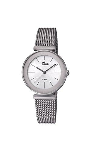 Lotus Watches Reloj Análogo clásico para Mujer de Cuarzo con Correa en Acero Inoxidable 18435/1