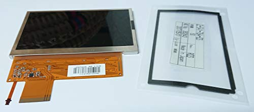 TOTALCONSOLE LCD Screen Replacement for PSP 1000 1001 Series w/Backlight & Cushion Gasket Sony OEM Original , Silver