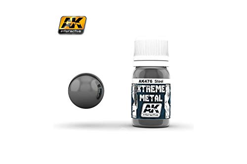 AK Interactive - 30ml Extreme Metal Paints - Steel