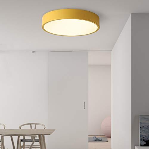 """Avior Home 18W LED Deckenlampe Deckenleuchte""""Pastell"""" Warmlicht, Gelb Ø30 cm für Wohnzimmer, Schlafzimmer, Küche"""