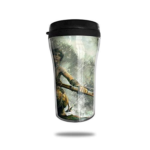 Yuanmeiju Lara Croft Tomb Raider Kaffeetasses Reise-Becher Warmer Tumbler Cup Customize Art Water BottleKaffeetasses with Lids 250ml