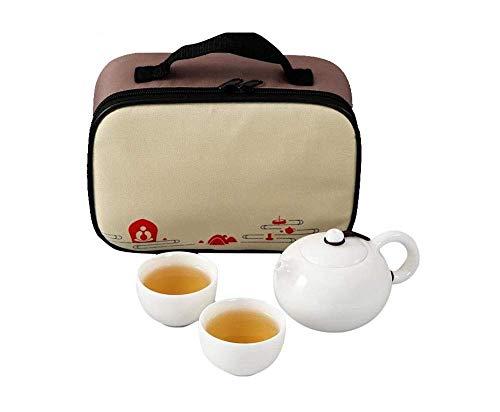 WFAANW Kung Fu Juego de té de cerámica portátil Copa Quick One Pot Oficina Copa Two Tea Al Aire Libre Viajes